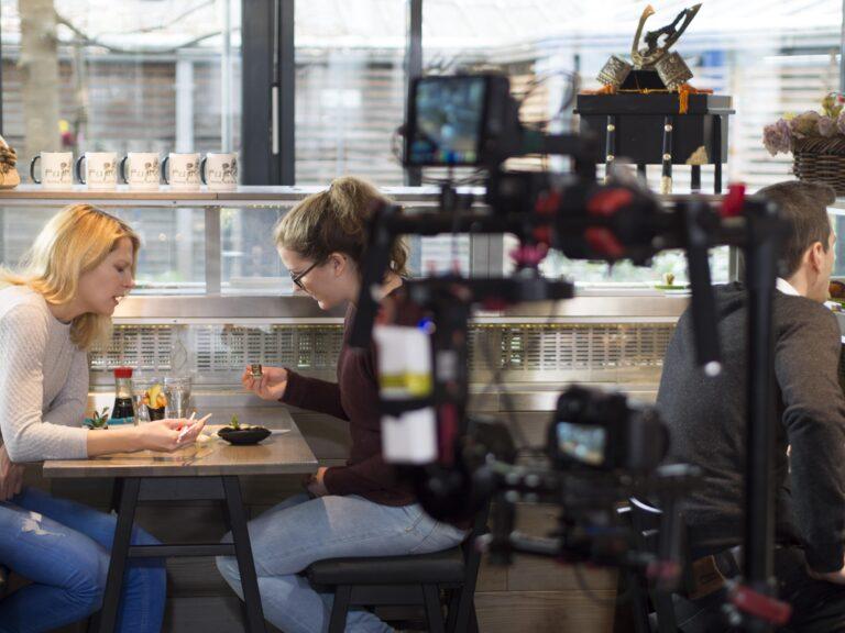 Filmdreh Pro 7, Galileo Sushi in München