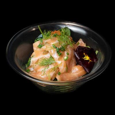 Lachsscheiben in Olive-Limetten-Soße